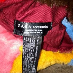 Zara Bags - Zara Faux Fur Colorful Bag